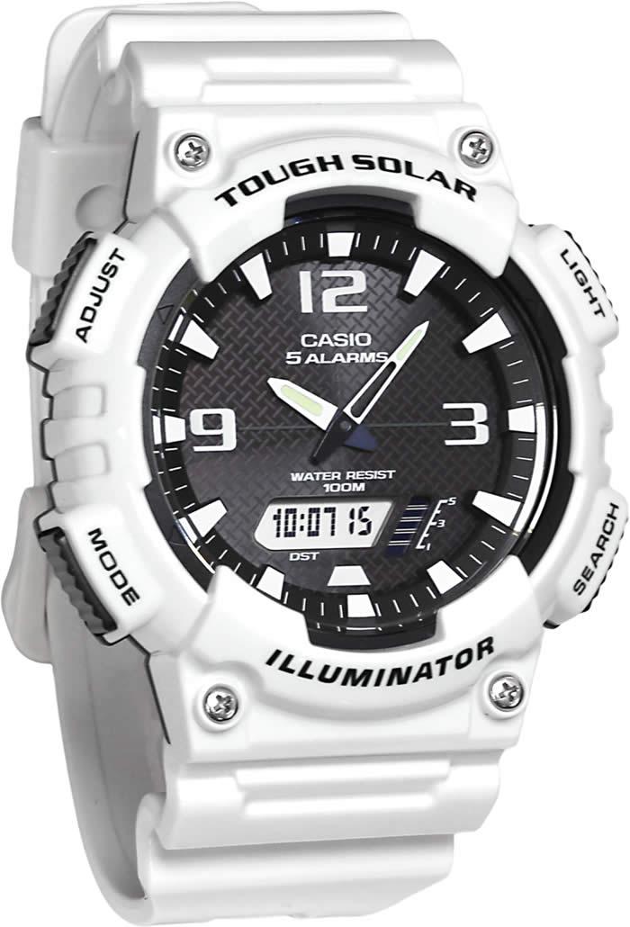 CASIO Men's Analog-Digital Display Quartz White Watch AQ-S810WC-7A