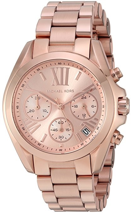 Micheal Kors Womens Bradshaw Chronograph Rose Gold - Toned Watch  MK5799
