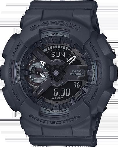 CASIO Womens G-Shock S-Series Black Dial Resin Quartz Watch GMAS110CM-8A