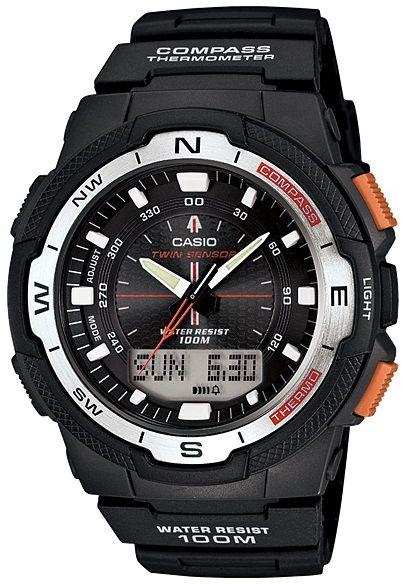 CASIO Men's Casio Analog-Digital Twin Sensor  Watch SGW-500H-1BV